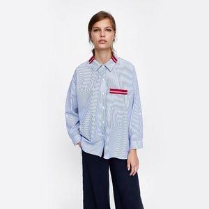 Zara Basic Button Front Shirt